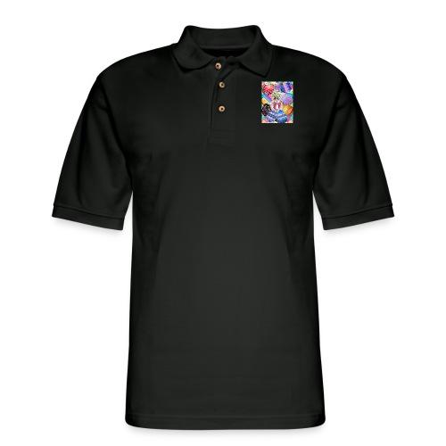 FIND THE BUNNY - Men's Pique Polo Shirt