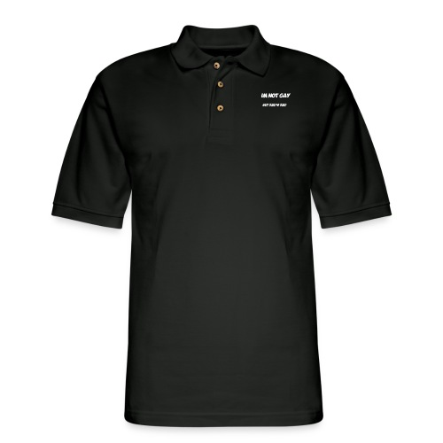 Im not gay but $20 is $20 - Men's Pique Polo Shirt