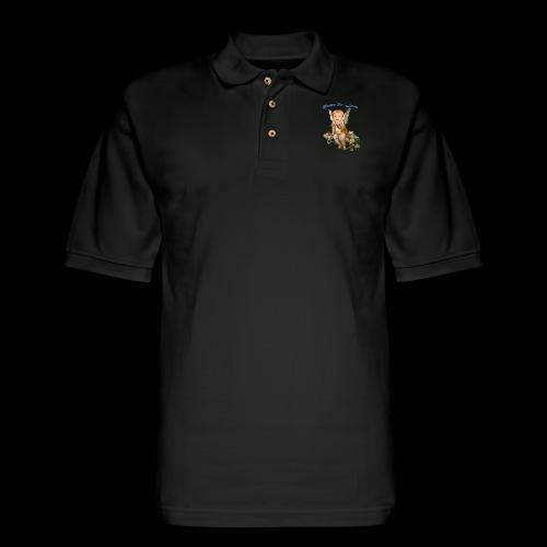 Peace and Love - Men's Pique Polo Shirt