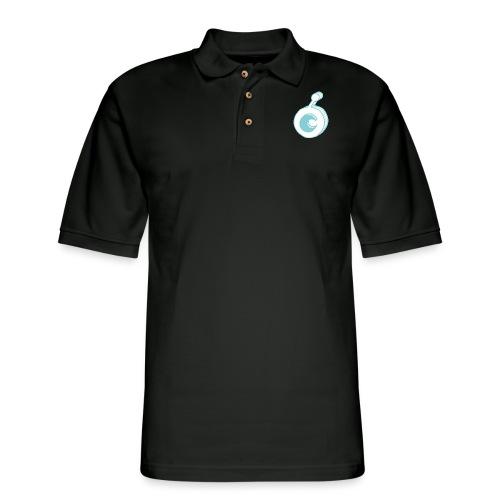 ost logo drawing - Men's Pique Polo Shirt