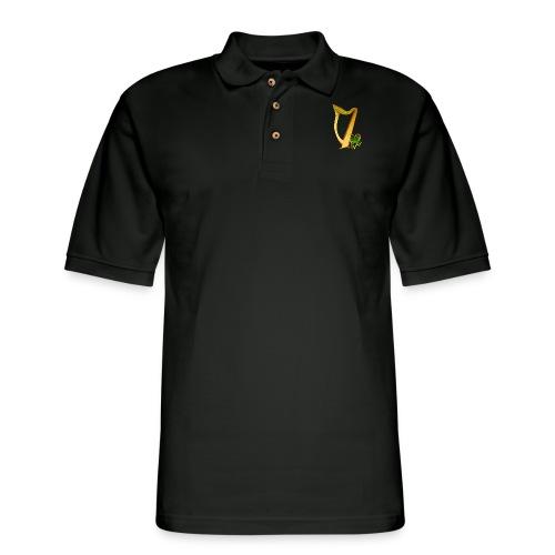 Celtic Irish gold Harp - Men's Pique Polo Shirt
