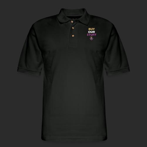 Buy Our Stuff Puissant Royale Logo - Men's Pique Polo Shirt