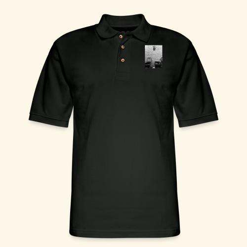 Monochrome art Sydney. - Men's Pique Polo Shirt