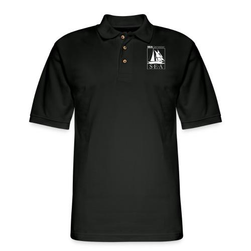 SEA_logo_WHITE_eps - Men's Pique Polo Shirt