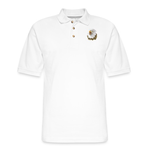 Big, Bold Eagle - Men's Pique Polo Shirt