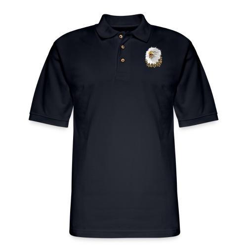 Big, Bold Eagle - Men's Pique Polo Shirt