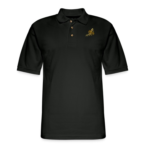 Year Of The Tiger In Gold - Men's Pique Polo Shirt