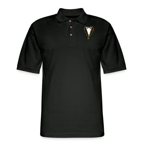 FUNK TUX - GOLD LINE - Men's Pique Polo Shirt