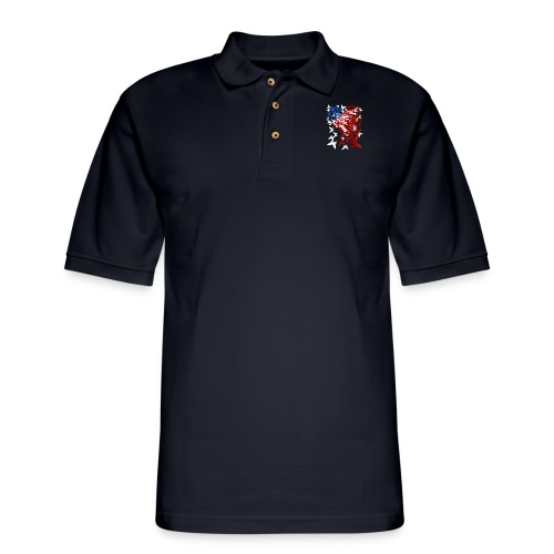The Butterfly Flag - Men's Pique Polo Shirt