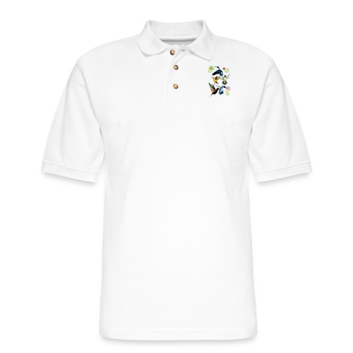 For The Love Of Hummingbirds - Men's Pique Polo Shirt