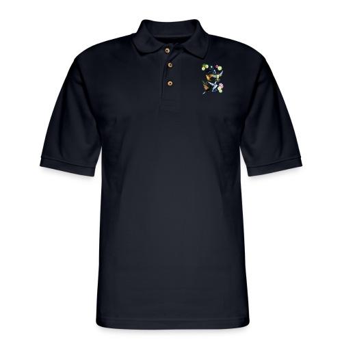 For The Love Of Hummingbirds - Men's Pique Polo Shirt