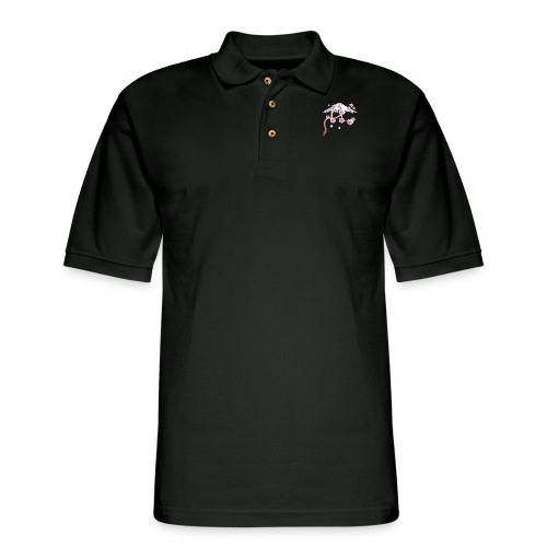 Cherry Blossoms and Mt. Fuji - Men's Pique Polo Shirt