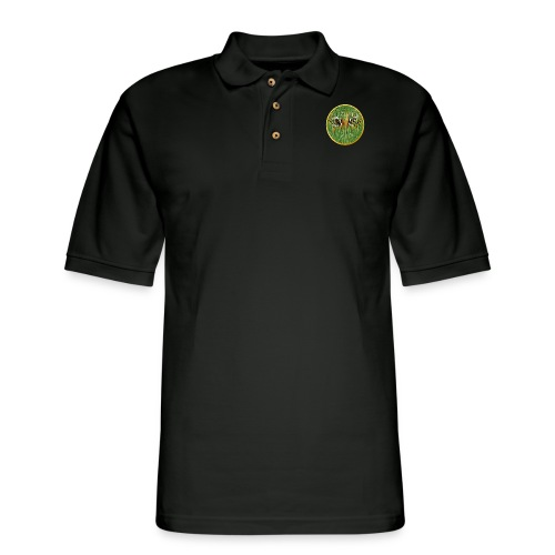 Tiger In The Grass - Men's Pique Polo Shirt