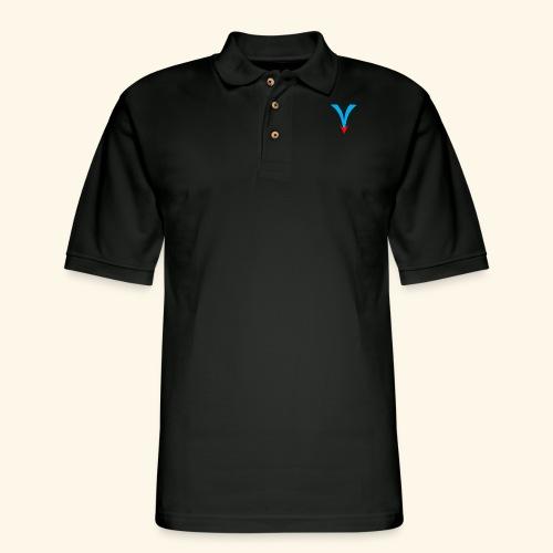 Simple V - Men's Pique Polo Shirt