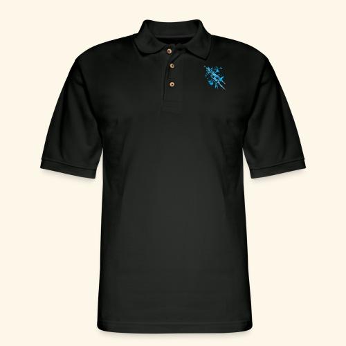 Blue Splash - Men's Pique Polo Shirt