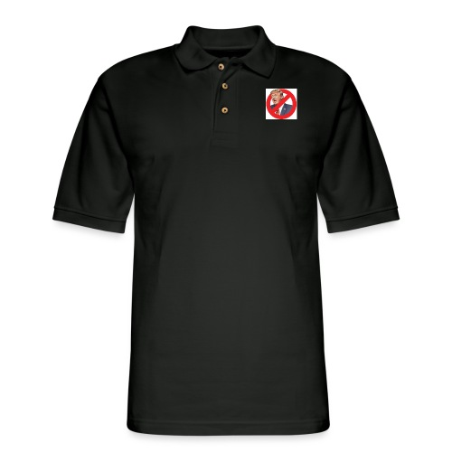blog stop trump - Men's Pique Polo Shirt