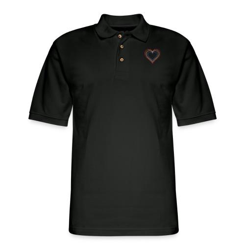 Heart rainbow - Men's Pique Polo Shirt