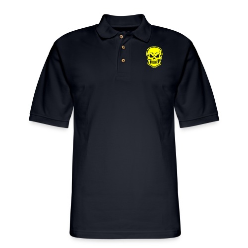 Skull vector yellow - Men's Pique Polo Shirt