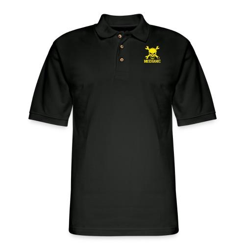 Mechanic Skull - Men's Pique Polo Shirt