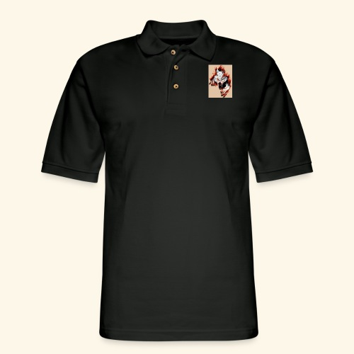 Teared Wolf picture on Accessories - Men's Pique Polo Shirt