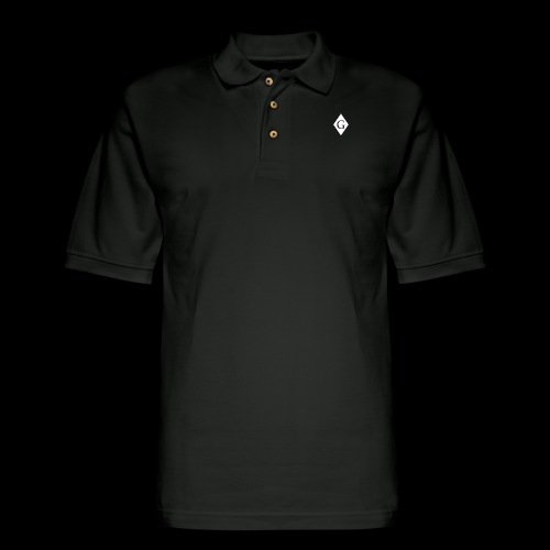 Glenester Black on White Diamond - Men's Pique Polo Shirt