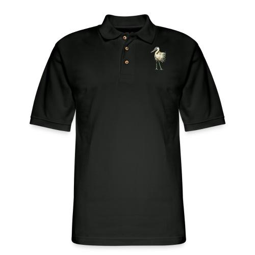 Great Blue Heron - Men's Pique Polo Shirt