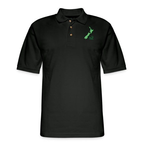 New Zealand's Map - Men's Pique Polo Shirt
