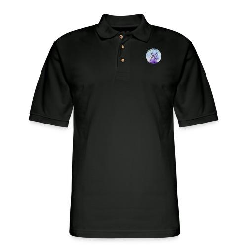 everyday is a new adventure logo - Men's Pique Polo Shirt