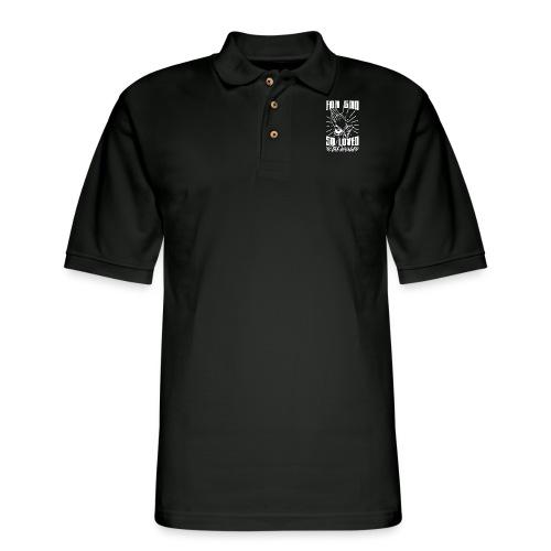 For God So Loved The World… - Alt. Design (White) - Men's Pique Polo Shirt
