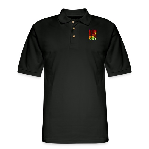 Funk Nation Arrive in the 80s - Men's Pique Polo Shirt