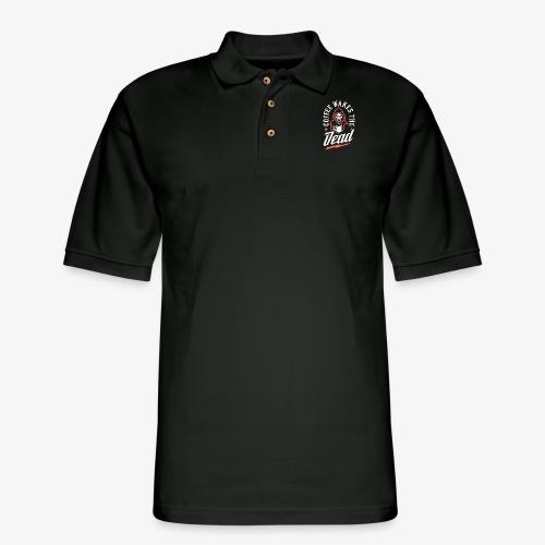 Coffee Wakes The Dead - Men's Pique Polo Shirt
