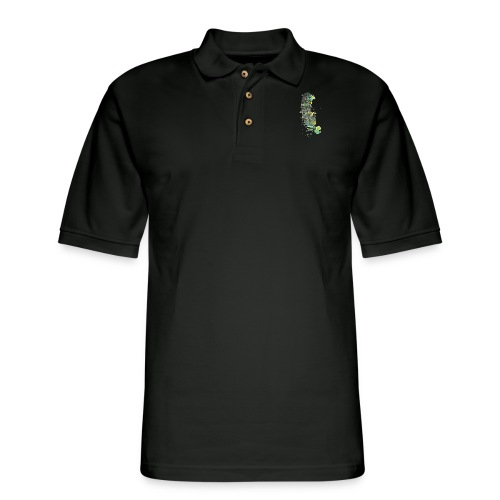 Geometric Feather - Men's Pique Polo Shirt