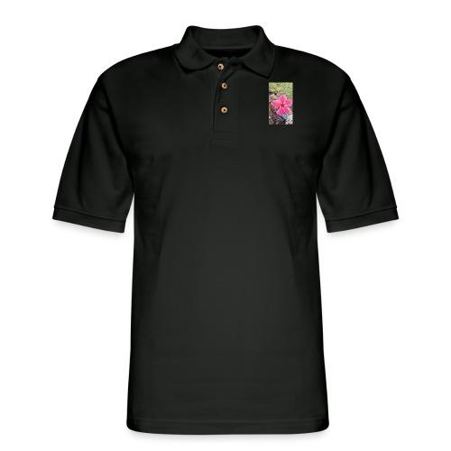 Pink Beach Flower - Men's Pique Polo Shirt