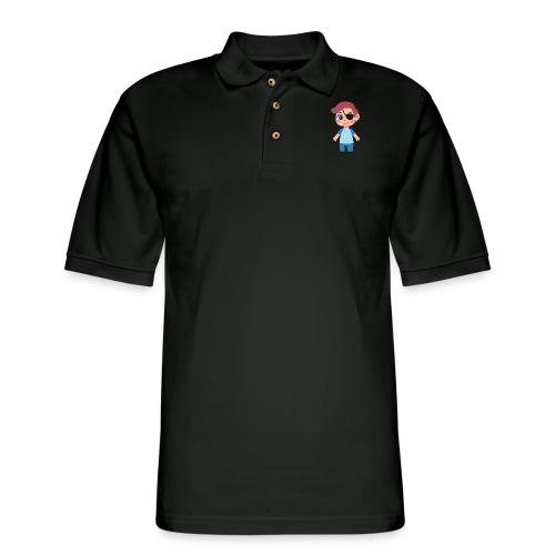 Boy with eye patch - Men's Pique Polo Shirt