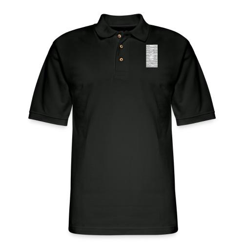 genesis. - Men's Pique Polo Shirt