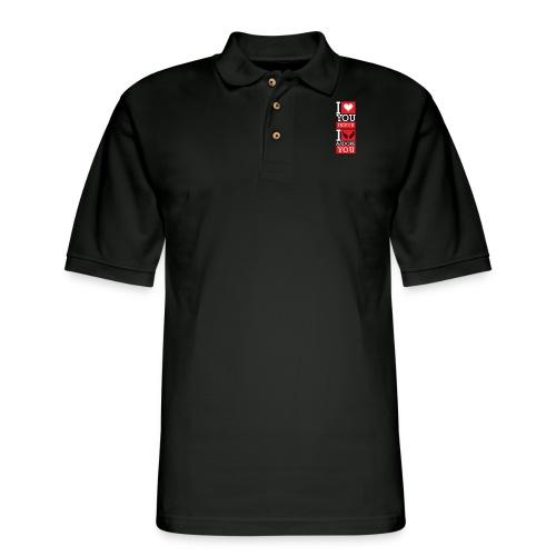 I Love You Jesus - Men's Pique Polo Shirt