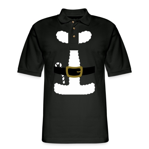 SANTA CLAUS SUIT - Men's Polo Shirt - Men's Pique Polo Shirt