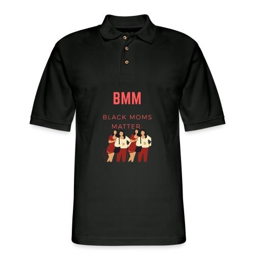 BMM wht bg - Men's Pique Polo Shirt