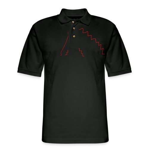 On the stairs - Men's Pique Polo Shirt