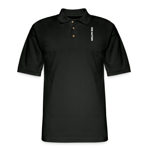 SIZEMATTERSVERTICAL - Men's Pique Polo Shirt