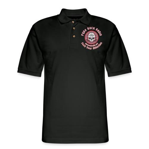 PRR Molenoise Skull (Front) + Circle Logo (Back) - Men's Pique Polo Shirt