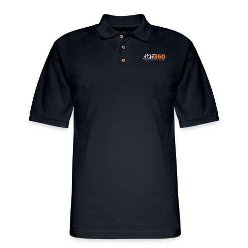Move360 Logo LightGrey - Men's Pique Polo Shirt