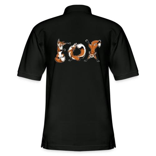 YOGA Foxes - Men's Pique Polo Shirt