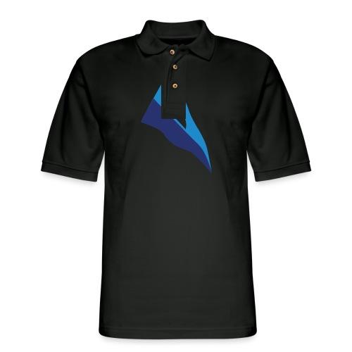 Throwback Burgee - Men's Pique Polo Shirt