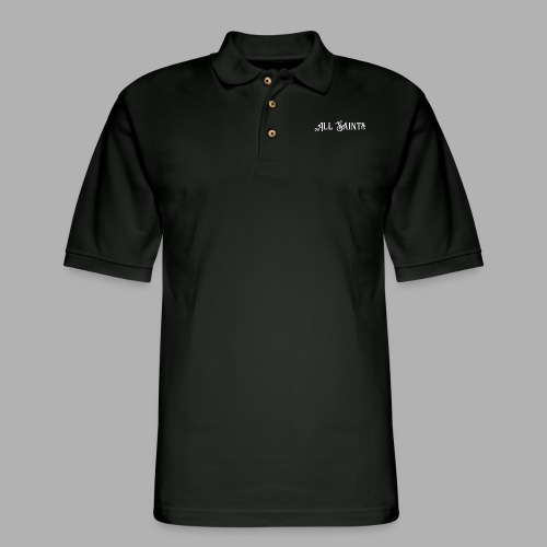 All Saints front and back print - Men's Pique Polo Shirt