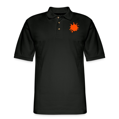 Black Explosion Network Logo w/Pocket Splatter Tee - Men's Pique Polo Shirt