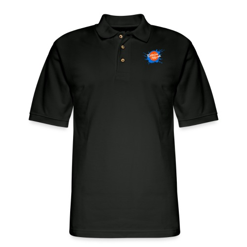 Black Explosion Network Pocket Tee w/ Characters - Men's Pique Polo Shirt