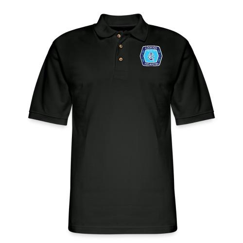 Looking For Heather Stock Logo - Men's Pique Polo Shirt