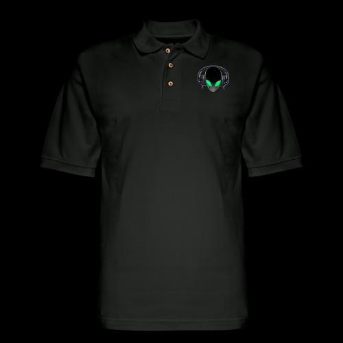 Alien Music Lover DJ (Simplified Fit All Design) - Men's Pique Polo Shirt