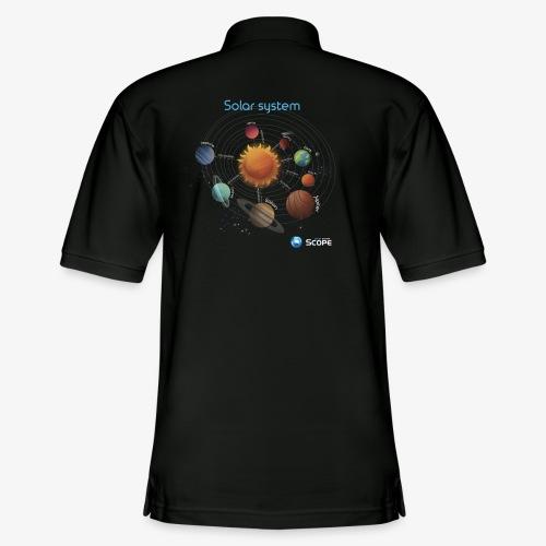 Solar System Scope : Solar System - Men's Pique Polo Shirt